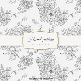 Sketches floral pattern