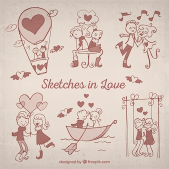 Sketches in love pack