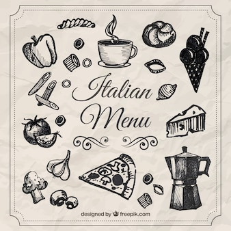 Sketches italian menu