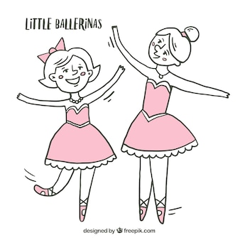Sketches little ballerinas