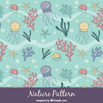 スケッチ海洋自然パターン