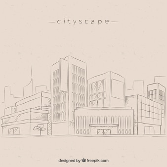 Sketches modern city background