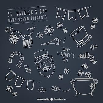 Sketches Saint Patrick element collection