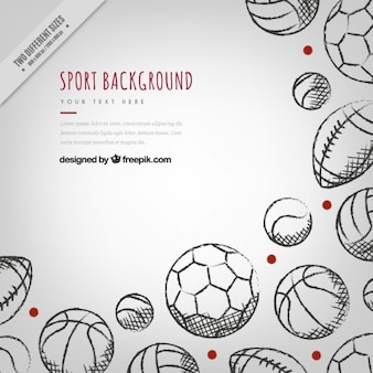 Sketches sporty elements background