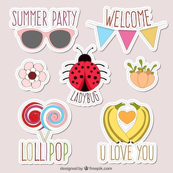 Sketches summertime patches