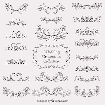 Sketches wedding ornament collection