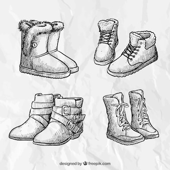 how to draw boots front view