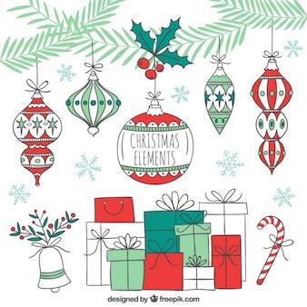 Sketchy christmas decoration