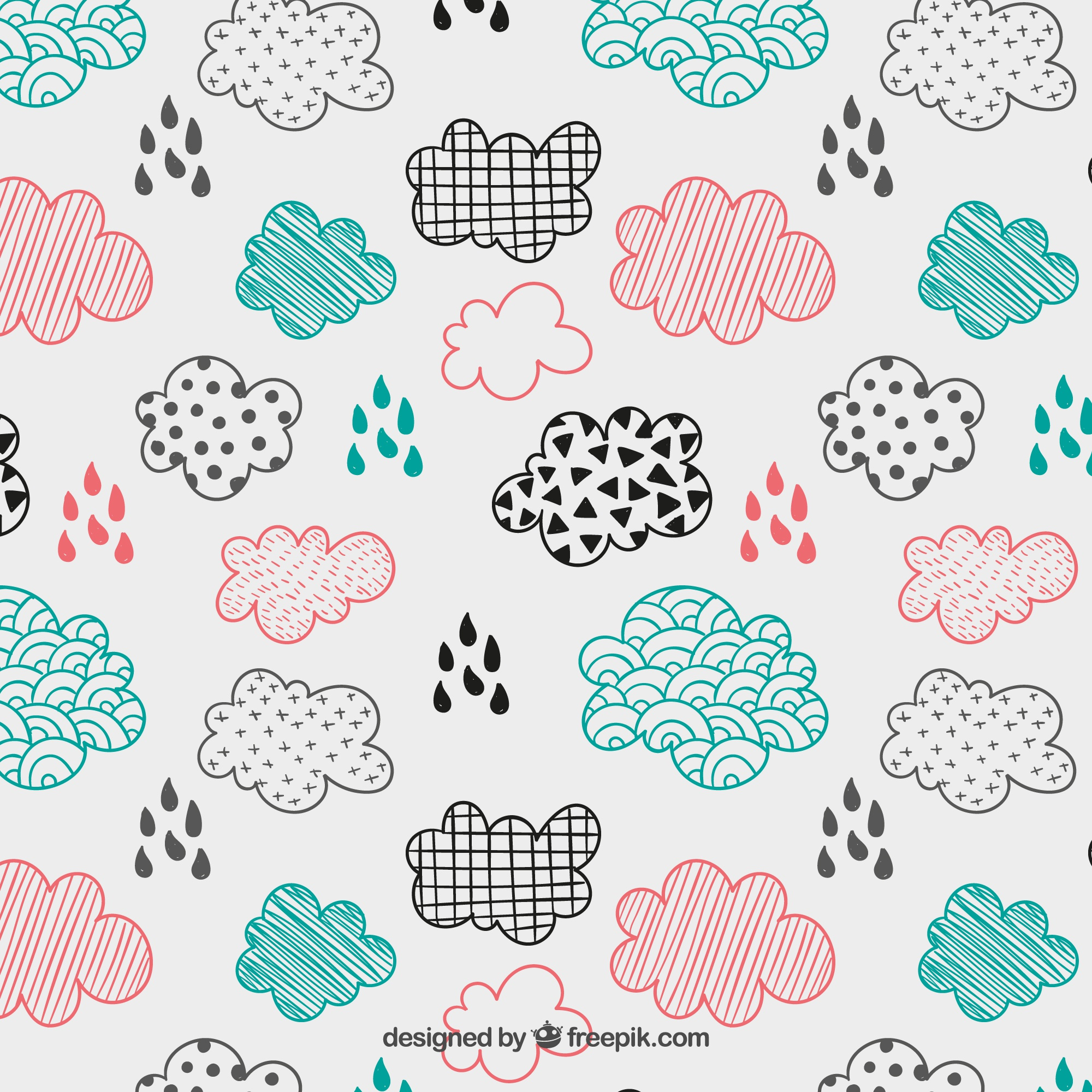 Sketchy clouds pattern