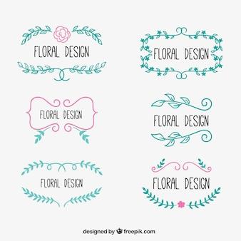Sketchy floral design