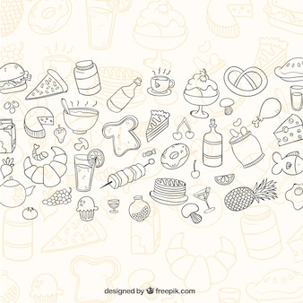 Sketchy food background