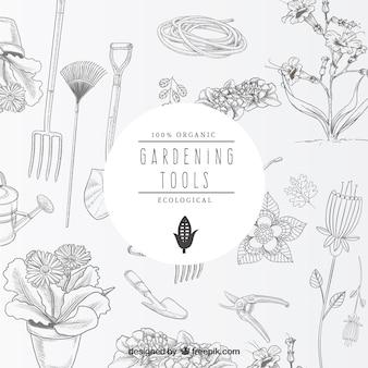 Sketchy gardening tools