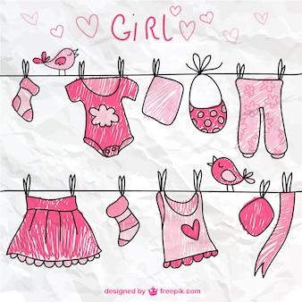 スケッチ、女の子の服