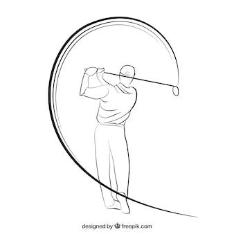 Sketchy golfer
