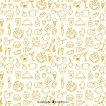 Sketchy kitchen pattern