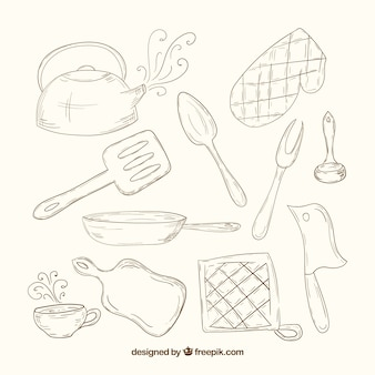 Sketchy kitchen tools