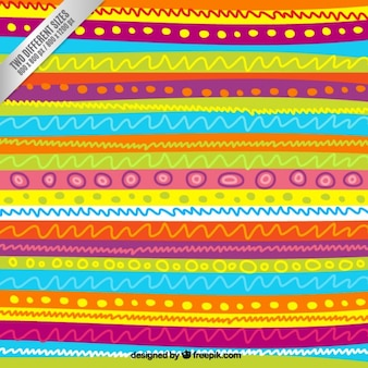 Sketchy lines pattern in colorful style