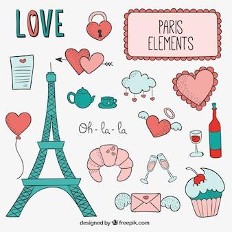 Sketchy Paris elements