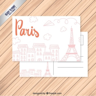 Sketchy Paris postcard