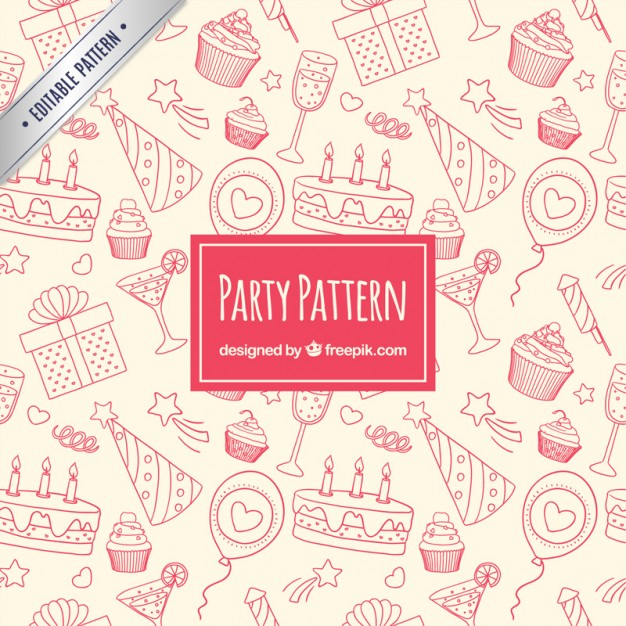 Sketchy party pattern