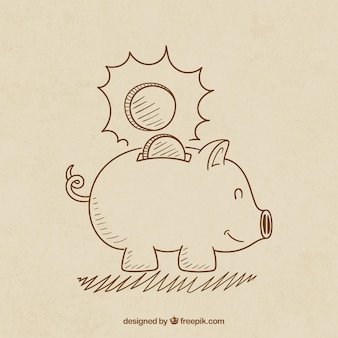 Sketchy piggybank