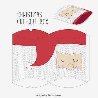 Sketchy santa claus cut out box