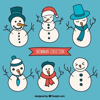Sketchy snowmen collection