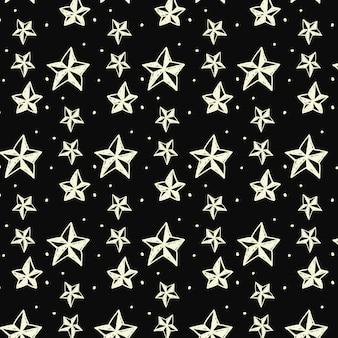 Sketchy stars pattern background