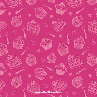 Sketchy sweets pattern