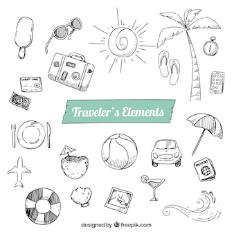 Sketchy traveler elements pack