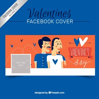 Sketchy valentines couple facebook cover