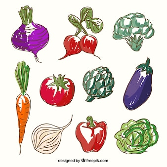 Sketchy vegetables
