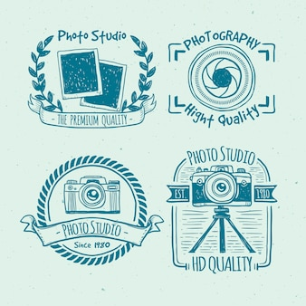 Sketchy vintage camera badges