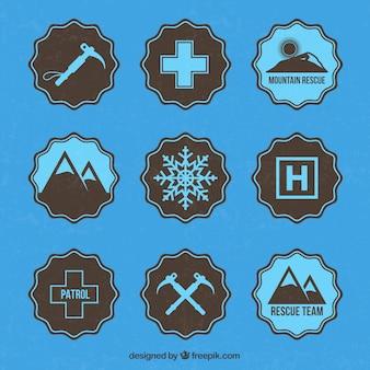 Ski patrol badges
