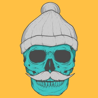 Skull background design