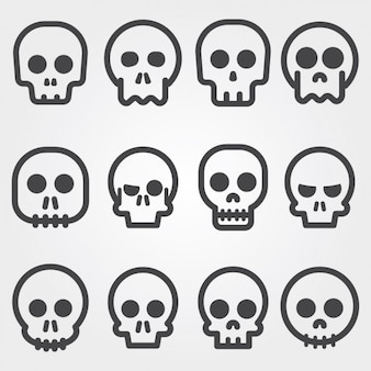 Skull icons collection