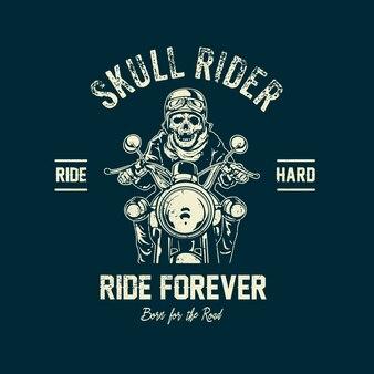 Skull rider background