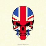 Skull with british flag