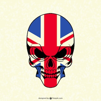 Skull with british flag
