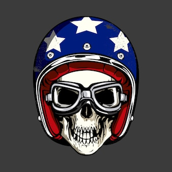 Skull with star helmet