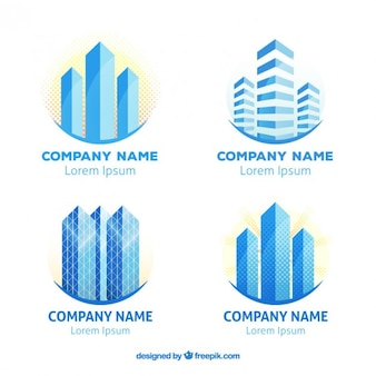 Skyscraper real estate logotypes