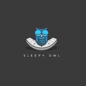 Sleepy owl background