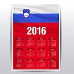 Slovenia calendar of 2016
