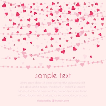 Small heart background design