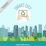 Smart city landscape background