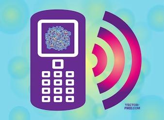 smart phone wireless vector icon