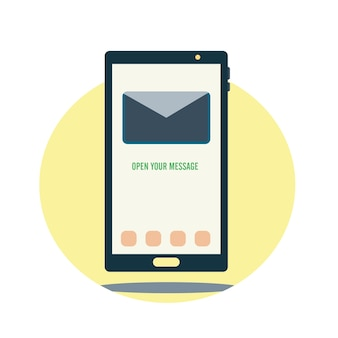 Smartphone with message illustration