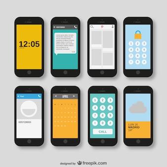Smartphones vector pack