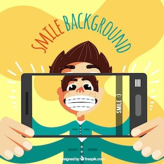 Smile background design