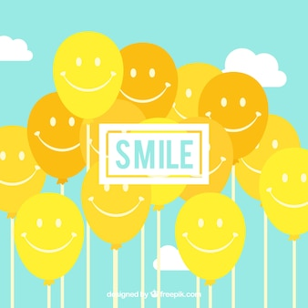 Smile balloons background